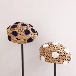 カオリノモリ(カオリノモリ)のカオリノモリ フサフサドット ベレー帽(ハンチング/ベレー帽)
