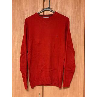 トミーヒルフィガー(TOMMY HILFIGER)のTOMMY HILFIGER メンズ ニット  セーター 赤 S(ニット/セーター)