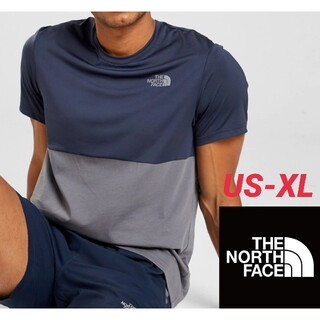 ザノースフェイス(THE NORTH FACE)のノースフェイス カラーブロックTシャツ 海外XLサイズ(Tシャツ/カットソー(半袖/袖なし))