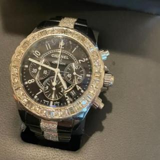 シャネル(CHANEL)のCHANEL シャネル J12  9Pダイヤ センターブレスダイヤモンド(腕時計(デジタル))