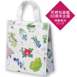 六花亭 保冷バッグ 花柄包装紙60周年企画(トートバッグ)