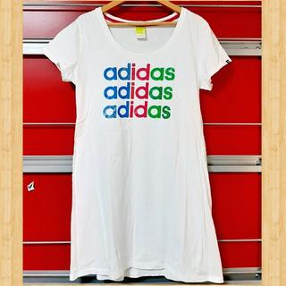 adidas - adidas アディダス Tシャツ ミニワンピース チュニック OT(XL) 白