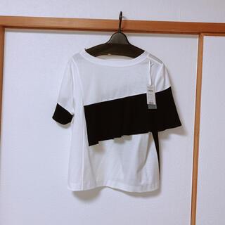 グレースコンチネンタル(GRACE CONTINENTAL)の2021ss GRACE CONTINENTAL バイカラーフリルカットトップ(Tシャツ(半袖/袖なし))