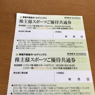 東急スポーツ優待共通券 2枚(その他)