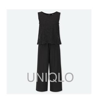 ユニクロ(UNIQLO)のUNIQLO 新品 ユニクロ レースオールインワン  オールインワン(オールインワン)