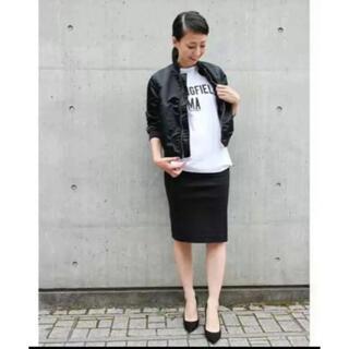 ドゥーズィエムクラス(DEUXIEME CLASSE)のドゥーズィエムクラス  ストレッチ コットン タイトスカート 黒 ブラック 38(ひざ丈スカート)