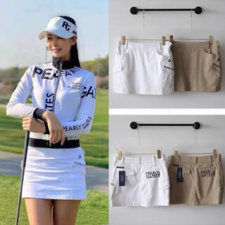 パーリーゲイツ(PEARLY GATES)の【パーリーゲイツ】日本未入荷 ゴルフスカート レディース 韓国公式パーリーゲイツ(ウエア)