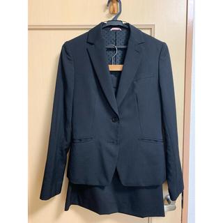 アオヤマ(青山)の洋服の青山 リクルートスーツ(黒) ジャケット・スカート(スーツ)