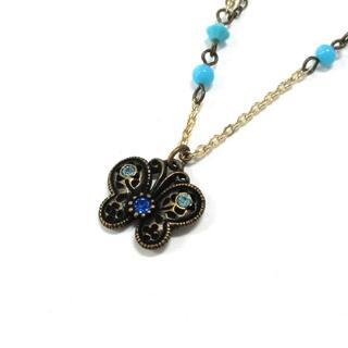 アナスイ(ANNA SUI)のアナスイ ネックレス - シルバー×ブルー(ネックレス)