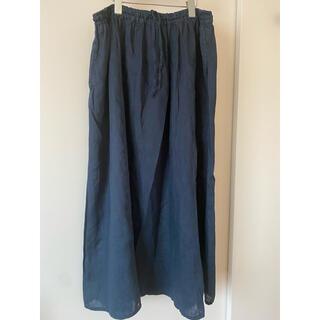 ムジルシリョウヒン(MUJI (無印良品))の無印 フレンチリネンギャザースカート(ロングスカート)