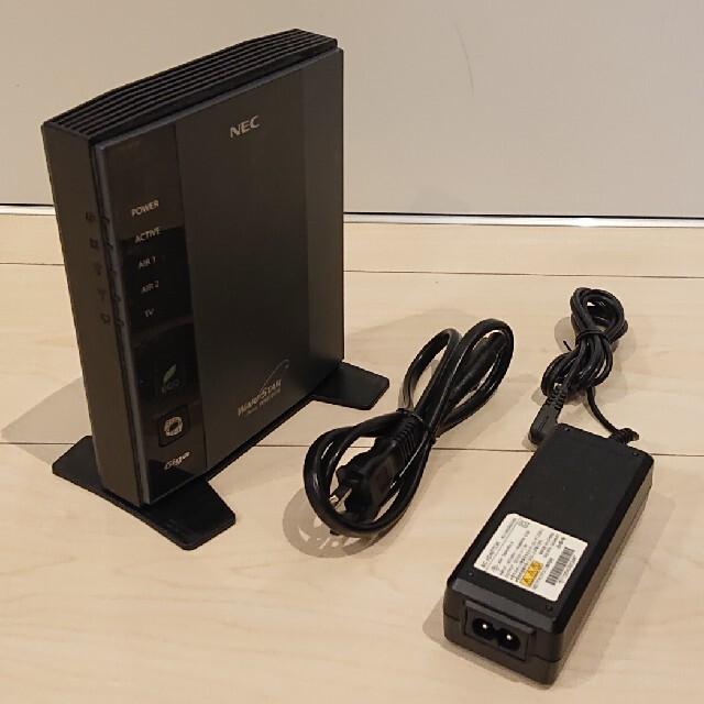 NEC(エヌイーシー)の無線ルーター NEC PA-WR8700N-HP スマホ/家電/カメラのPC/タブレット(PC周辺機器)の商品写真