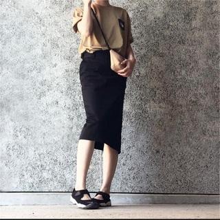ハイク(HYKE)の【未着用タグ付き】 HYKE タイトスカート ブラック サイズ2(ひざ丈スカート)