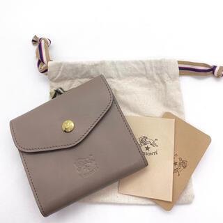IL BISONTE - 【新品未使用】  イルビゾンテ  二つ折財布 がま口☆トルトラ グレーベージュ☆