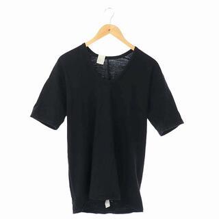 エヌハリウッド(N.HOOLYWOOD)のミスターハリウッド Tシャツ カットソー 半袖 Uネック 42 ブラック /AA(Tシャツ/カットソー(半袖/袖なし))