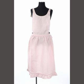 ラルフローレン(Ralph Lauren)のラルフローレン ヴィンテージ エプロン ロゴ ホース ストライプ 白 ピンク(その他)