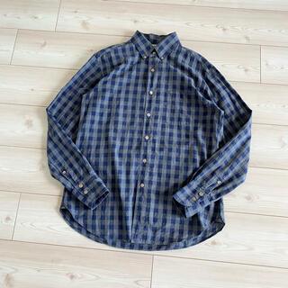 フォーティファイブアール(45R)の45R コットン チェック ボタンダウンシャツ 4 ネイビー グレー 45rpm(シャツ)