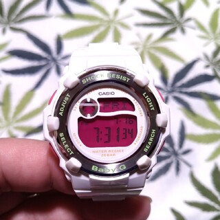 Baby-G - CASIO Baby-G bg-3000a ジーショック ホワイト×ピンク