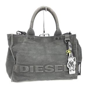 ディーゼル(DIESEL)のディーゼル ハンドバッグ - 黒 キャンバス(ハンドバッグ)