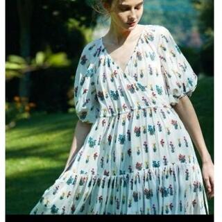 ツルバイマリコオイカワ(TSURU by Mariko Oikawa)のツルバイマリコオイカワ 刺繍ワンピース(ロングワンピース/マキシワンピース)