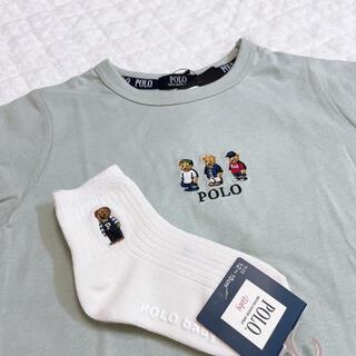 しまむら - ポロベア Tシャツ、靴下セット