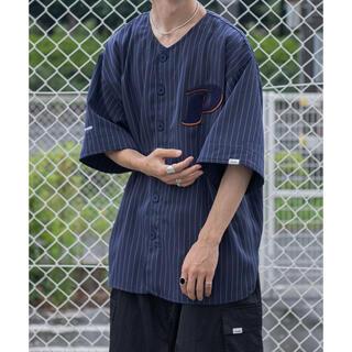 HARE - ペルーシュ ストライプベースボールシャツ クティール 古着 韓国