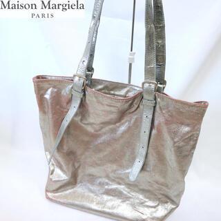 マルタンマルジェラ(Maison Martin Margiela)のマルタンマルジェラ11  アーティザナルシルバーペイントレザートート(トートバッグ)