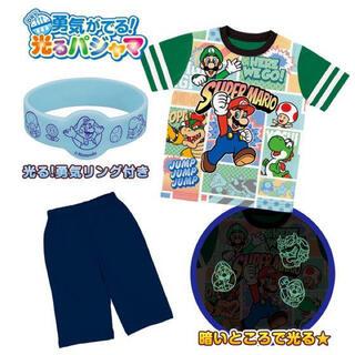 バンダイ(BANDAI)のパジャマ スーパーマリオ 光るパジャマ 半袖 男の子 110(パジャマ)