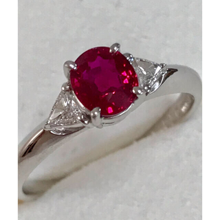 タサキ(TASAKI)のTASAKI ✨PTルビーリング0.76ct ダイヤモンド0.11ct短期出品(リング(指輪))