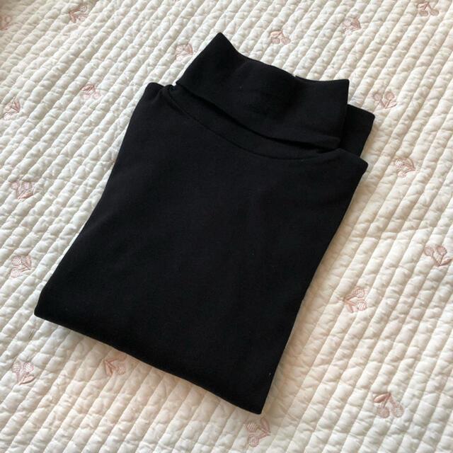 Bonpoint(ボンポワン)のボンポワン タートルネック カットソー ブラック 12A タグ付き新品 キッズ/ベビー/マタニティのキッズ服女の子用(90cm~)(Tシャツ/カットソー)の商品写真