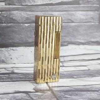 ダンヒル(Dunhill)のダンヒル 36 ライター 凹凸柄ゴールド ローラガス ダンヒルライター(タバコグッズ)