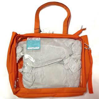 ウィゴー(WEGO)のデコストラップ付き デコルームトートバッグ オレンジ(トートバッグ)
