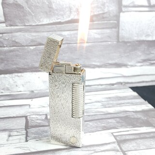 ダンヒル(Dunhill)のダンヒル 39 ライター 削柄シルバーdマーク ローラガス ダンヒルライター(タバコグッズ)