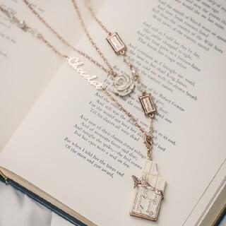 アクシーズファム(axes femme)のホワイトチョコ  ネックレス(ネックレス)