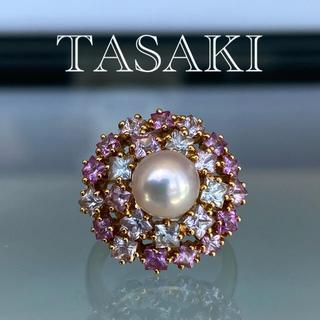 タサキ(TASAKI)のタサキK18あこや真珠天然サファイア2.58リング(リング(指輪))