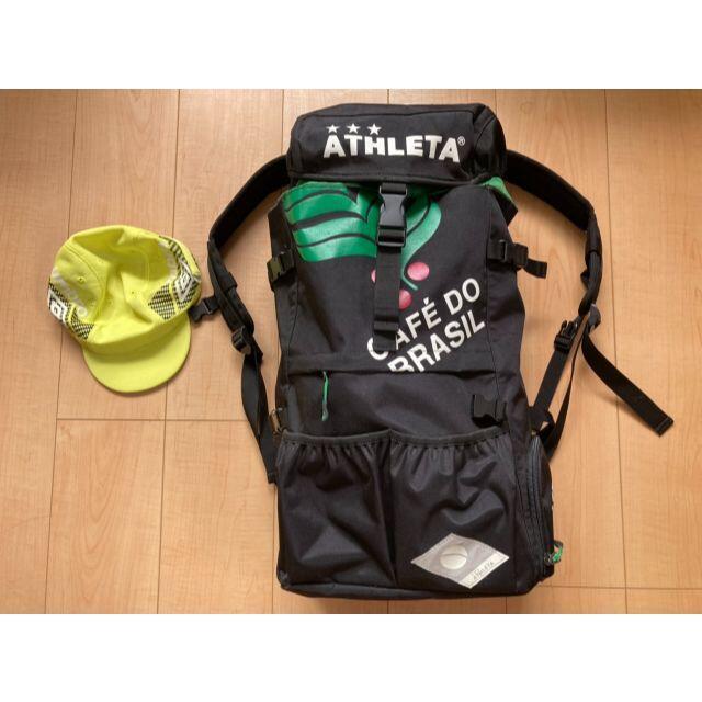 ATHLETA(アスレタ)のATHLETAリュック+キャップ(umbro) スポーツ/アウトドアのサッカー/フットサル(その他)の商品写真