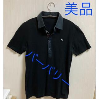 BURBERRY - 美品 BURBERRY バーバリー ポロシャツ ブラック Mサイズ