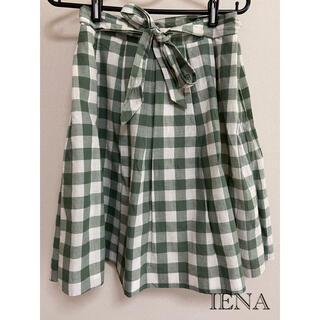 IENA - スカート ギンガムチェック IENA