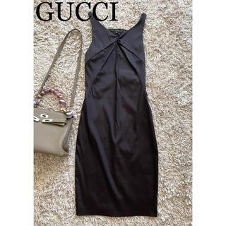 グッチ(Gucci)のGUCCI ノースリーブワンピース サイズ40(ひざ丈ワンピース)