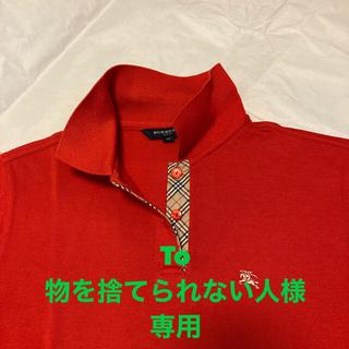 バーバリー(BURBERRY)のバーバリーゴルフポロシャツ BURBERRY GOLF 赤(ポロシャツ)