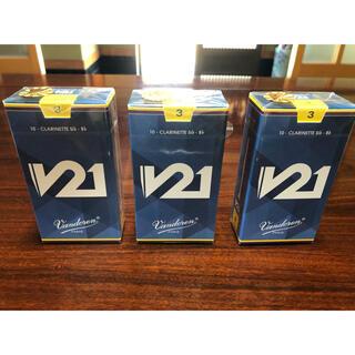 B♭クラリネット リード V21 3番3箱(クラリネット)