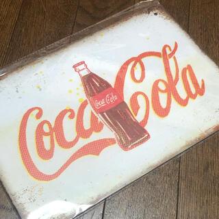 コカ・コーラ - コカコーラ ボトル ブリキ看板