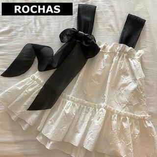ロシャス(ROCHAS)の【未使用】ロシャス ROCHAS バック リボン フリル カットソー トップス(カットソー(半袖/袖なし))