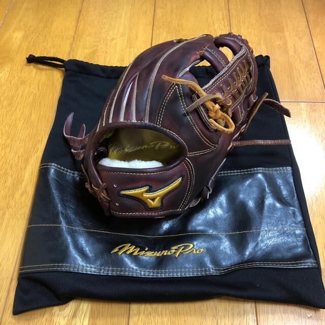 MIZUNO(ミズノ)の週末限定値引き ミズノプロ 軟式用グローブ 内野手用 ミプロ 大人用 袋付き スポーツ/アウトドアの野球(グローブ)の商品写真