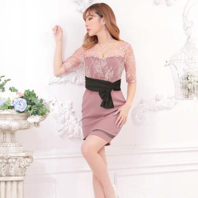 dazzy store(デイジーストア)のエレガントレースタイトミニドレス デイジーストア ピンク レディースのフォーマル/ドレス(ナイトドレス)の商品写真