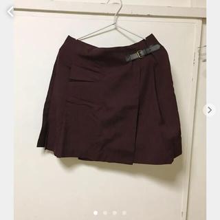 ユニクロ(UNIQLO)のタグなし新品ユニクロえんじ色スカート(ミニスカート)