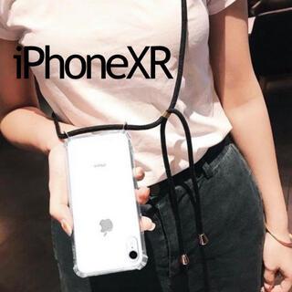 ビューティアンドユースユナイテッドアローズ(BEAUTY&YOUTH UNITED ARROWS)のストラップ ショルダー iPhoneケース ブラック 黒 柄 クリアケース 透明(iPhoneケース)
