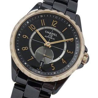シャネル(CHANEL)のシャネル 時計 H3838 J12 セラミック 自動巻き AT デイト メンズ(腕時計(アナログ))