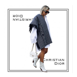 Christian Dior - ディオール オブリーク ウール&アンゴラ ブランケット