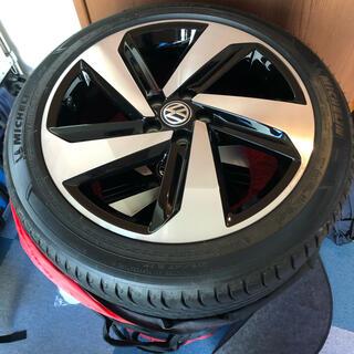 フォルクスワーゲン(Volkswagen)のフォルクスワーゲン POLO GTI 純正ホイール+タイヤ 送料込み(タイヤ・ホイールセット)
