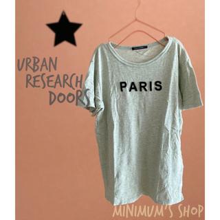 ドアーズ(DOORS / URBAN RESEARCH)のアーバンリサーチドアーズ メンズ フェルトロゴ Tシャツ 杢生地 メンズ(Tシャツ/カットソー(半袖/袖なし))